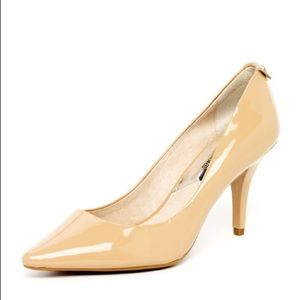 Michael by Michael Kors Patent Leather Nude Pumps